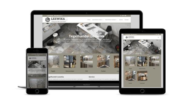 Website Restyling in WordPress voor Tegelhandel Leewika