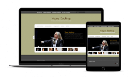 Nieuwe website Jan Vayne: Vayne Bookings