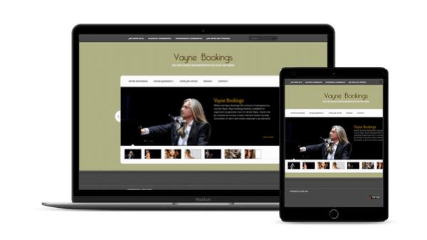 Nieuwe website Jan Vayne: Vayne Bookings