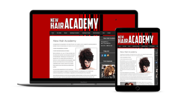 Web-Pepper levert website New Hair Academy