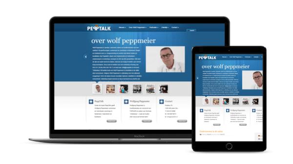 Web-Pepper pept PeppTalk.nl voor Wolfgang Peppmeier op!