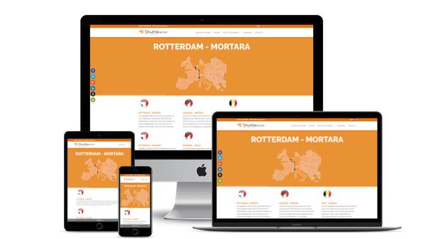 Restyling WordPress Website Intermodal Operator Shuttlewise
