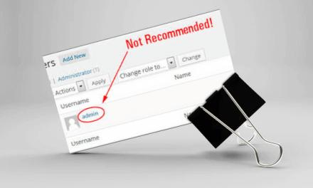 Gebruikersnaam ADMIN wijzigen in WordPress