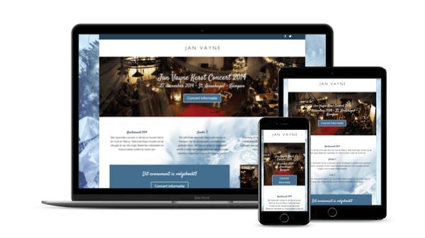 Web-Pepper opent Website Christmas-Chapel.nl voor Jan Vayne