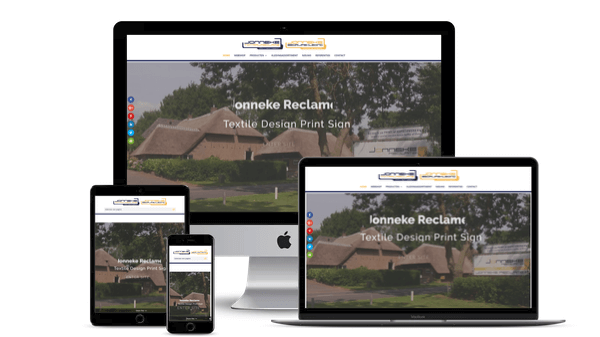 Nieuwe website voor Jonneke-Reclame in Lith