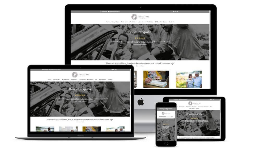 Vernieuwde website voor Lookatme Fotografie