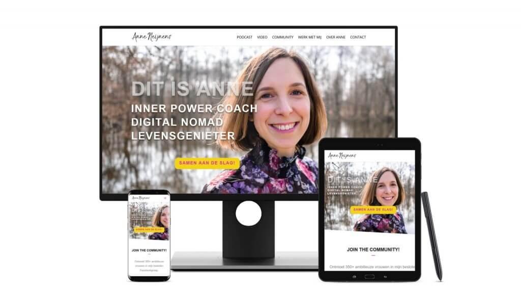 Vernieuwde website voor Anne Neijnens